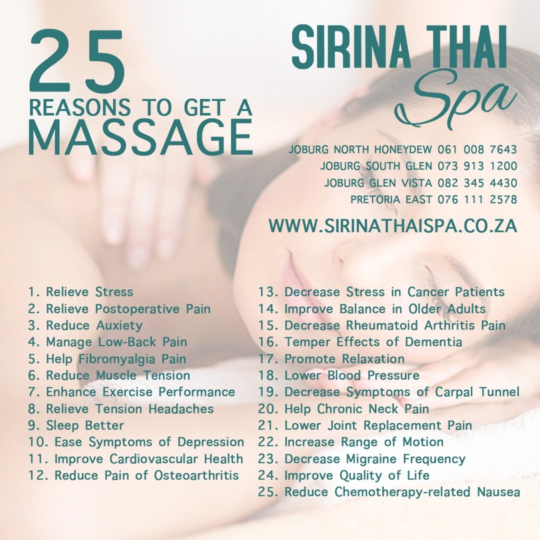 25 Reasons to visit Sirina Thai Spa